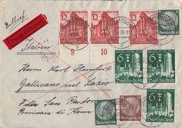DR Brief Eilbote Mif Minr.2x 516,518,3x 714,3x 715 Osnabrück 16.10.39 Gel. Nach Italien - Lettres & Documents