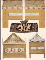 L'ORNEMENT GREC. SARCOPHAGES GRECS DU TEMPS D'ALEXANDRE EN BOIS PEINT.-ART LAMINA SHEET PLANCHE-BLEUP - Afiches