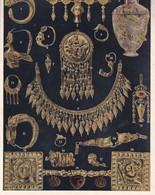 L'ORNEMENT GREC. PIECES D'ORFEVRERIE GRECQUE.-ART LAMINA SHEET PLANCHE-BLEUP - Afiches
