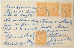 3pk-525: 4x N279: BAILESTI 27-12-22> Bruxelles / Fantasie.. - 1918-1948 Ferdinand, Carol II. & Mihai I.