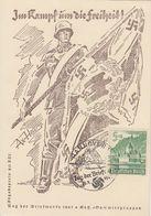 DR Sonderkarte Im Kampf Um Die Freiheit EF Minr.753 SST Hannover 12.1.41 Tag Der Briefmarke - Briefe U. Dokumente