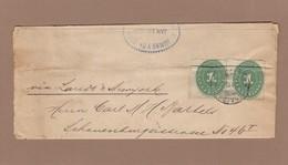 ZEITUNSBANDSTREIFEN VON VERA-CRUZ NACH HAMBURG VIA LAREDO & NEW-YORK,1895. - México