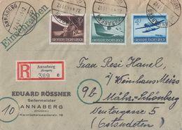 DR R-Brief Mif Minr.878,881,882 Annaberg 20.4.44 - Germany