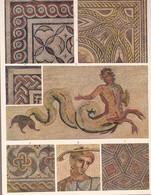 L'ORNEMENT ROMAIN. MOSAIQUE EN MARBRE.-ART LAMINA SHEET PLANCHE-BLEUP - Afiches