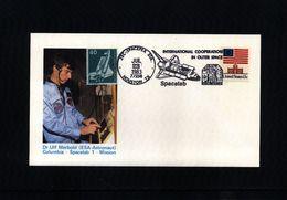 USA - Germany 1983 Space / Raumfahrt Space Shuttle - Spacelab Interesting Postcard - Estados Unidos