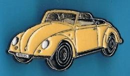 1 PIN'S //   ** VOLKSWAGEN ** COCCINELLE ** COX / CABRIOLET ** . (Qualité Collectors Tirage -500 © QUÉBEC) - Volkswagen