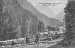Route De Chamonix à MARTIGNY CHATELARD (frontière) - Suisse