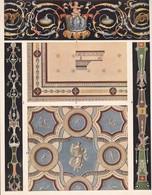 L'ORNEMENT ROMAIN-HELLENISTE. PEINTURES DECORATIVES.-ART LAMINA SHEET PLANCHE-BLEUP - Afiches