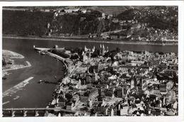 DE-RP: KOBLENZ Am Rhein Mit Blick Auf Ehrenbreitstein - Luftaufnahme - Koblenz