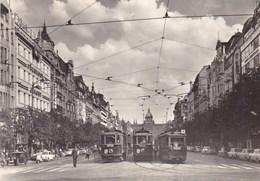 PRAGUE SQUARE WENCESLAS/TRAMWAYS (dil350) - Yougoslavie