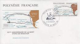 Enveloppe  FDC  1er  Jour    POLYNESIE   30éme  Anniversaire  De  La  Mort  De  Eric  DE  BISSCHOP  1988 - FDC