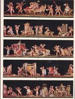 L'ORNEMENT ROMAIN-HELLENISTE. PEINTURES MURALES POMPEIENNES.-ART LAMINA SHEET PLANCHE-BLEUP - Afiches