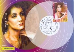 Italia 2018 Maximum Card FDC Mia Martini Cantante E Autrice Di Canzoni Annullo Di Bagnara Calabra - Musica