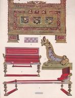 L'ORNEMENT ROMAIN-HELLENISTE. MEUBLES POMPEIENS.-ART HISTORY LAMINA SHEET PLANCHE-BLEUP - Afiches