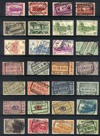 Y20 - Belgium - Railway Parcel Stamps - Used Lot - Ohne Zuordnung