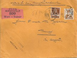 Wertbrief  Bern Kirchenfeld -  Reinach             1915 - Schweiz
