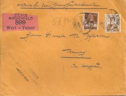 Wertbrief  Bern Kirchenfeld -  Reinach             1915 - Briefe U. Dokumente