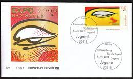 Germany Bonn 2000 / For Youth / EXPO 2000 Hannover / Jugend / FDC - 2000 – Hannover (Duitsland)