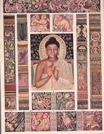 L'ORNEMENT BOUDDHISTE DANS L'INDIE. PEINTURES DU TEMPLE D'AJANTA, 6°ecle AVANT JC-ART HISTORY LAMINA SHEET PLANCHE-BLEUP - Afiches