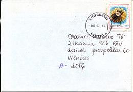 Lithuania Cover Eigirdziai 17-7-1999 Single Topic Stamp Bee - Lithuania