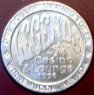$1 Casino Token. Legends, Winnemucca, NV. 1996. D29. - Casino