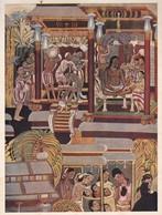 L'ORNEMENT BOUDDHISTE DANS L'INDIE. PEINTURE DU TEMPLE D'AJANTA.-ART HISTORY LAMINA SHEET PLANCHE-BLEUP - Afiches