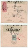 Italie // Lettre Censurée Et Taxée Pour La Suisse (St.Imier) 01.05.1918 - 1900-44 Victor Emmanuel III.