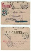 Italie // Lettre Censurée Et Taxée Pour La Suisse (St.Imier) 29.07.1916 - 1900-44 Vittorio Emanuele III