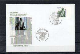 Deutschland, 2004, Michel 2375, FDC, Individuell, DS Sehenswürdigkeiten/Bach-Denkmal - FDC: Covers