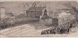 1865  --  ITALIE  CEREMONIE D INAUGURATION DU CHEMIN DE FER DE BARI A BRINDISI  3D849 - Vieux Papiers