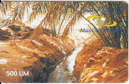 MAURITANIA - Landscape, Mauritel Prepaid Card 500 UM(matt Surface), Exp.date 31/12/99, Used - Mauritanie