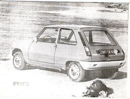 Renault 5  -  Renault Concessionaire Publicité Carte - Voitures De Tourisme
