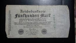 Deutsches Reich 500 Mark  ( 7.7.1922) ( Rosenberg 71 C/ Pick 74) - [ 3] 1918-1933 : Repubblica  Di Weimar