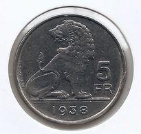LEOPOLD III * 5 Frank 1938 Vlaams/frans Pos.B * KROON * Prachtig * Nr 9203 - 06. 5 Francos