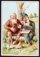 CHROMO Chocolat SUCHARD   +/- 1890    Serie 19    Gnomes     Zwerge    Trade Card - Suchard