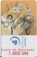 MAURITANIA - Jewelry, Mattel Recharge Card 1000 UM, Used - Mauritania