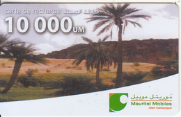 MAURITANIA - Oasis, Mauritel Recharge Card 10000 UM, Used - Mauritania
