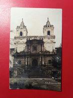 Quito - Iglesia De San Francesco, Real Photo - Ed. Norona R. Quito (dry Stamp) - Equateur