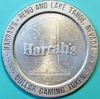 $1 Casino Token. Harrahs, Reno/Tahoe, NV. Die Rotation Error. D31. - Casino