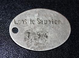 WW1 - Plaque Patronymique De Poilu Soldat 1907 - Lons-le-Saunier - Plaque D'identification Militaire - WWI - Frankreich