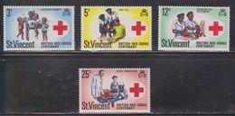 ST VINCENT Scott # 299-302 MNH - Centenary Of British Red Cross - St.Vincent (1979-...)