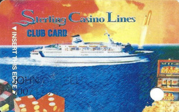 Sterling Casino Lines Club Card - Cape Canaveral, FL Casino Cruise Ships - Casino Cards