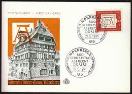 Germany Nürnberg 1971 / Albrecht Durer Haus / Painter, Printmaker And Theorist Of The German Renaissance - Arts