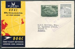 1958 Venezuela / GB  BOAC First Flight Cover Caracas - London.B.O.A.C. - Venezuela
