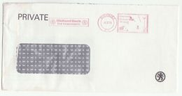 1979 GUERNSEY COVER METER SLOGAN Pmk MIDLAND BANK FOR TEAMWORK  Banking Stamps - Guernesey