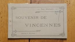VINCENNES  CARNET DE 12 CARTES POSTALES DETACHABLES - Vincennes