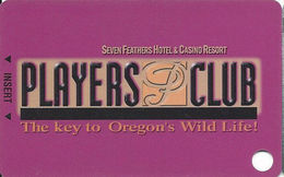 Seven Feathers Casino - Canyonville, OR USA - 4th Issue Slot Card / Small Text / BLANK - Casino Cards