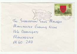 1978 JERSEY COVER St Saviour's CHURCH Stamps SLOGAN JERSEY STAMPS WORTH COLLECTING Philately Religion - Churches & Cathedrals