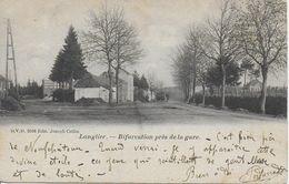 LONGLIER ..-- DVD 9596 . Près De La GARE . 1903 Vers HERSTAL ( Melle Herminie JOLLET ) . Voir Verso . - Neufchâteau