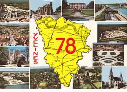 Carte Du Département Des Yvelines: Multivues - France